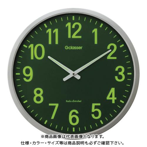 キングジム 電波掛時計 ザラージ集光・蓄光文字盤 GDKS-001