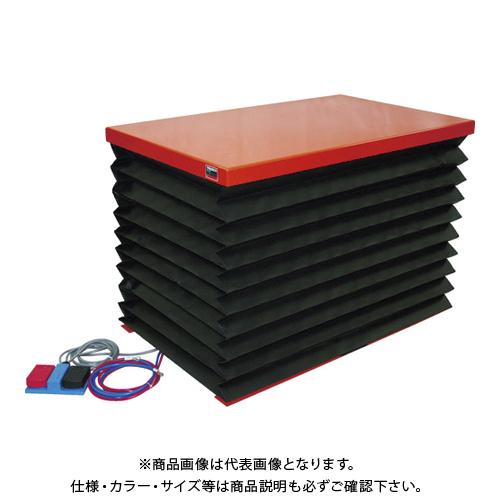 【直送品】TRUSCO テーブルリフト100kg 電動Bねじ式 DC12Vバッテリー専用 蛇腹付 520×850 HDL-H1058VJD1