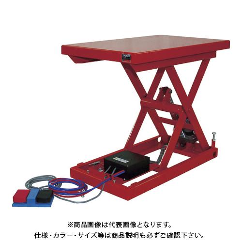 【直送品】TRUSCO テーブルリフト100kg 電動Bねじ式 DC12Vバッテリー専用 520×850 HDL-H1058V-D1