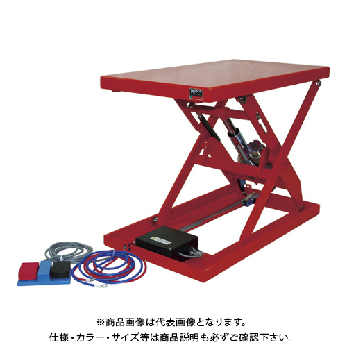 【直送品】TRUSCO テーブルリフト100kg 電動Bねじ式 DC12Vバッテリー専用 400×720 HDL-L1047V-D1