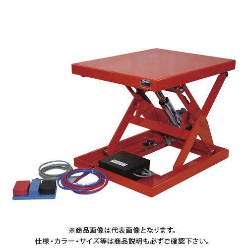 【直送品】TRUSCO テーブルリフト150kg 電動Bねじ式 DC12Vバッテリー専用 520×630 HDL-L1556V-D1