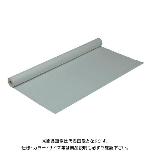 TRUSCO 防炎シートα軽量 ロールタイプ幅0.9mX長さ50.0m グレー GBS-900RA-GY