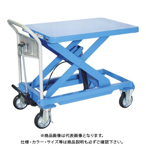 【直送品】TRUSCO ハンドリフター 500kg 600X900 ブルー HLFA-E500B