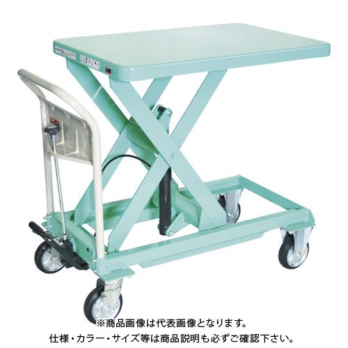 【直送品】TRUSCO ハンドリフター 500kg 600X900 グリーン HLFA-E500G