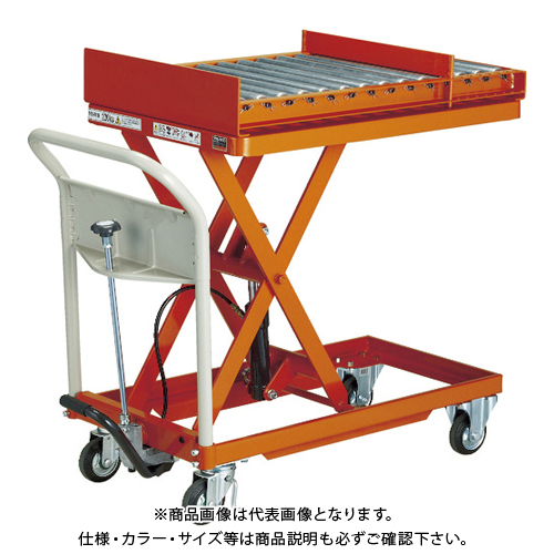 【運賃見積り】 【直送品】 TRUSCO 金型移動用ハンドリフター 400kg 600X900 回転台付 HLFA-S500TM1
