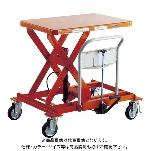 【直送品】TRUSCO ハンドリフター サイドハンドル 1000kg 4輪自在 早送り付 HLFA-E1000LLS-B