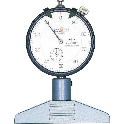 テクロック ダイヤルデプスゲージ 測定範囲0~10mm DM-210