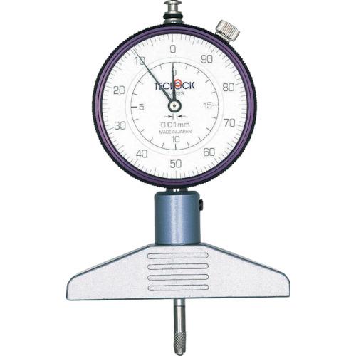 テクロック ダイヤルデプスゲージ 測定範囲0~20mm DM-223