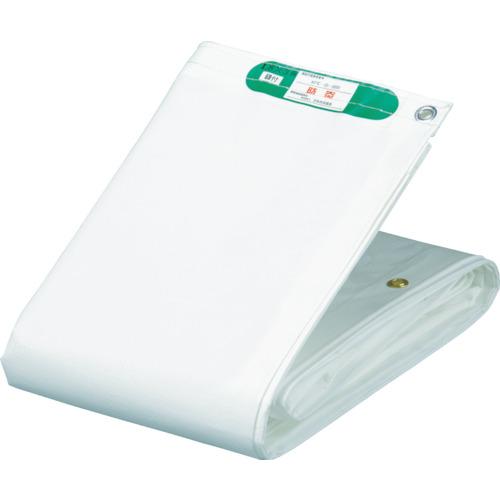 萩原 国産塩ビ防炎シート 養生用 ホワイト 3.6m×5.4m KEB3654