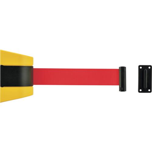 緑十字 ベルトパーテーション(壁面設置タイプ) ベルト:赤/5m 受け金具付 332097