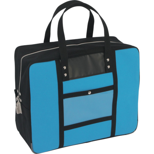 SANEI 帆布メール用ボストン(LL)SED-1錠付 ブルー BTLL-SED-09