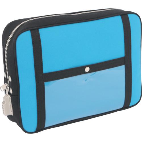 SANEI 帆布メール用ポーチ(LL)SED-1錠付 ブルー PLL-SED-09