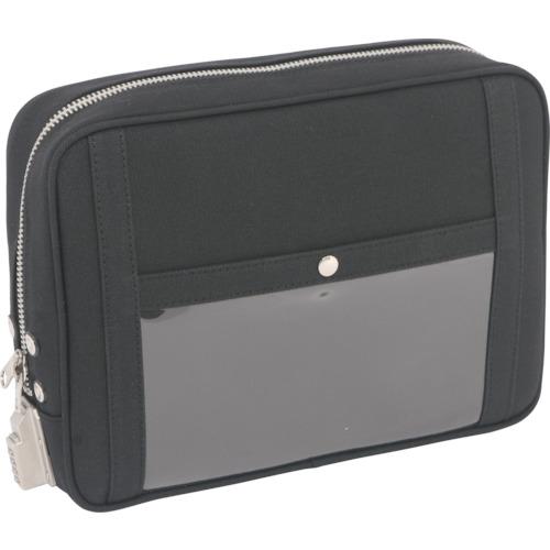 SANEI 帆布メール用ポーチ(L)SED-1錠付 黒 PL-SED-01