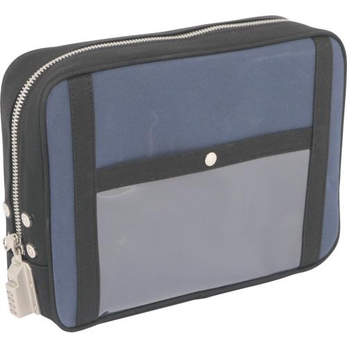 SANEI 帆布メール用ポーチ(L)SED-1錠付 紺 PL-SED-03