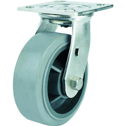 SAMSONG ステンレスキャスター 自在 エラストマー 125mm TP6750-01-MIR