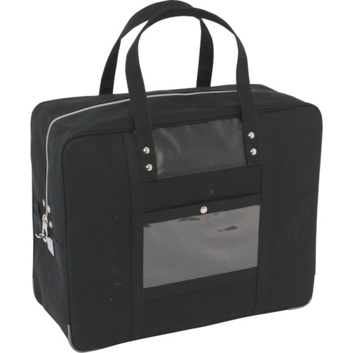 SANEI 帆布メール用ボストン(LL)馬蹄錠金具付 黒 BTLL-U-01