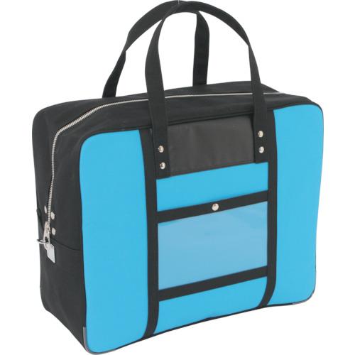 SANEI 帆布メール用ボストン(LL)馬蹄錠金具付 ブルー BTLL-U-09