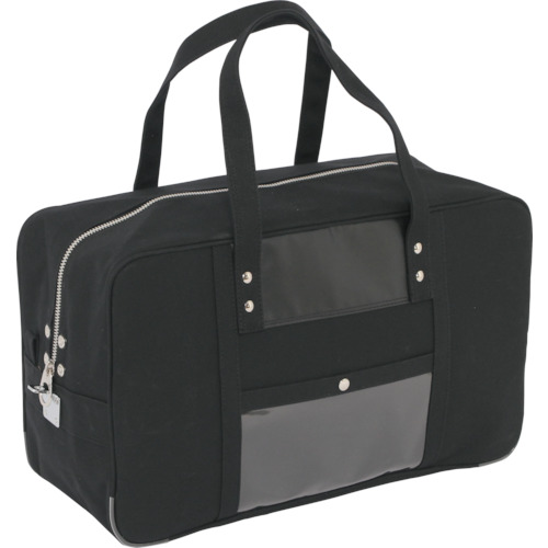 SANEI 帆布メール用ボストン(L)馬蹄錠金具付 黒 BTL-U-01
