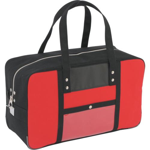 SANEI 帆布メール用ボストン(L)馬蹄錠金具付 赤 BTL-U-02