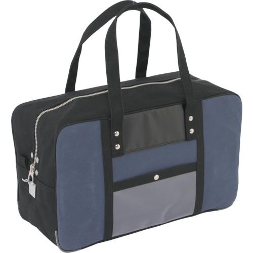 SANEI 帆布メール用ボストン(L)馬蹄錠金具付 紺 BTL-U-03