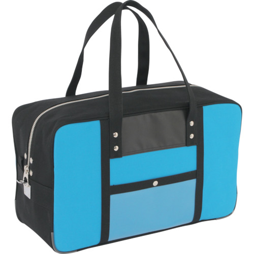 SANEI 帆布メール用ボストン(L)馬蹄錠金具付 ブルー BTL-U-09