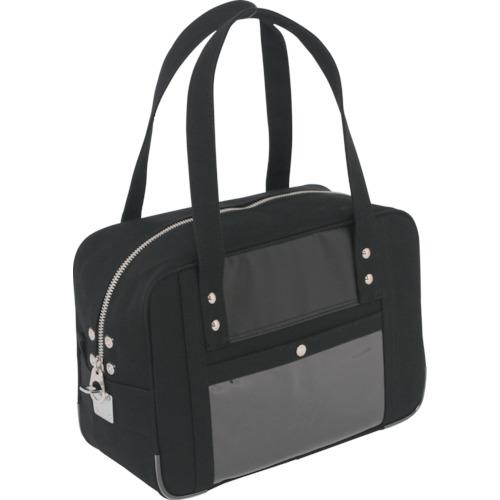 SANEI 帆布メール用ボストン(S)馬蹄錠金具付 黒 BTS-U-01