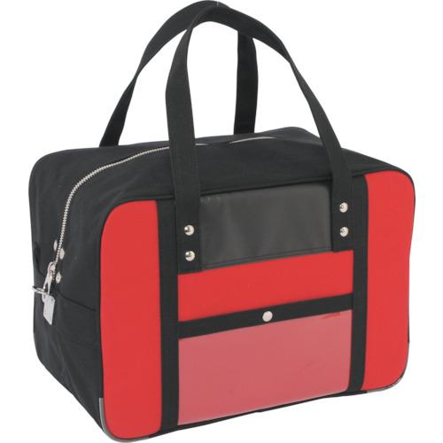SANEI 帆布メール用ボストンMマチ広 馬蹄錠金具付 赤 BTMDE-U-02