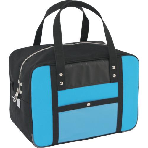 SANEI 帆布メール用ボストンMマチ広 馬蹄錠金具付 ブルー BTMDE-U-09