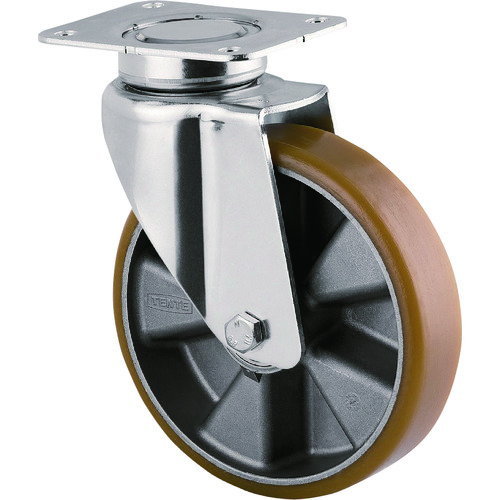 テンテキャスター 重荷重用高性能旋回キャスター(ウレタン車輪) φ200 自在式 3640ITP200P63 CONVEX