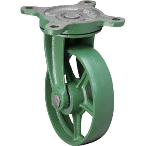 【運賃見積り】【直送品】東北車輛製造所 標準型自在金具付鉄車輪 300 300BRFB