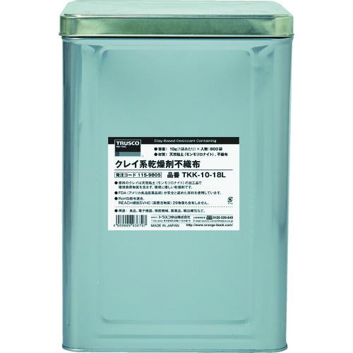 【直送品】TRUSCO クレイ系乾燥剤不織布 50g 200個入 1斗缶 TKK-50-18L
