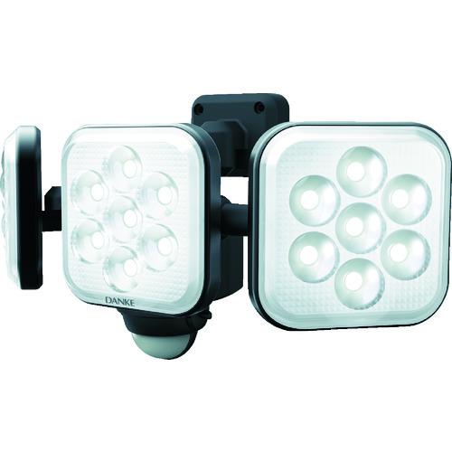 ダンケ 8W×3灯 フリーアーム式LEDセンサーライト E40324