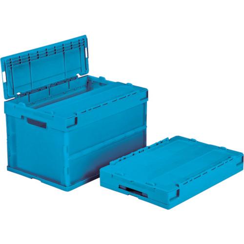 サンコー フタ一体型折りたたみコンテナー サンクレットオリコンPG51B-B ブルー SK-SO-PG51B-B-BL