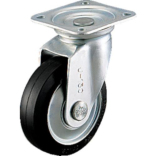 シシク スタンダードプレスキャスター ゴム車輪 自在 250径 WJ-250