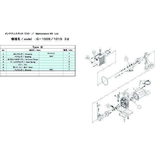ULVAC G-100S/101S用メンテナンスキットB 3Φ G-101S MAINTENANCEKIT B