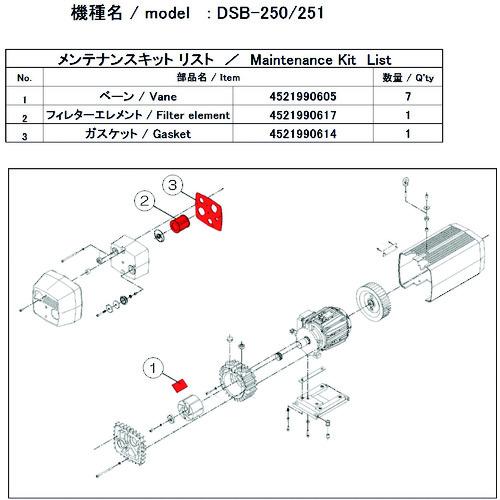 ULVAC DSB-251用メンテナンスキット DSB-251 MAINTENANCEKIT