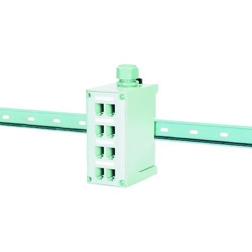 光ファイバー用 FDME8RG DINレールマウントパッチパネル FDME8RG パンドウイット 8ポート