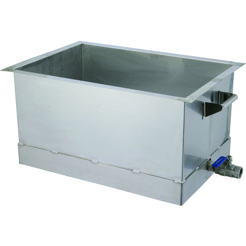 【運賃見積り】【直送品】オオモリ 洗浄槽 直角底 50L OM1013-33