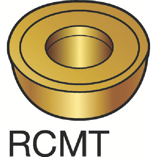 サンドビック コロターン107 旋削用ポジ・チップ H13A 10個 RCMT 16 06 MO:H13A