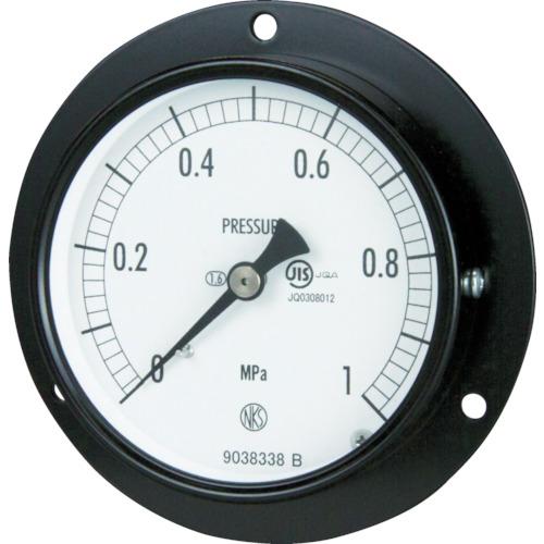 長野 普通形圧力計 D枠埋込型 Φ75 最小目盛0.100 AC15-231-6.0MP