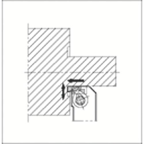 正規通販 GFVTR2525M-08AA:工具屋「まいど!」 京セラ 溝入れ用ホルダ-DIY・工具