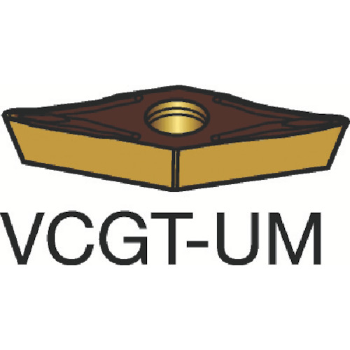 サンドビック コロターン107 旋削用ポジ・チップ H13A 10個 VCGT 11 03 01-UM:H13A