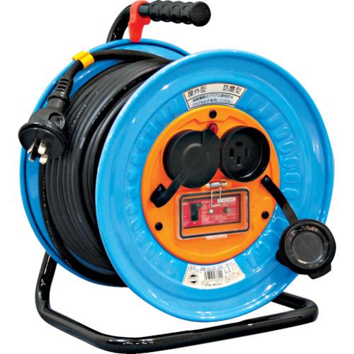日動 電工ドラム 防雨防塵型三相200V アース・過負荷漏電保護兼用 20A/15mA感度 30m DNW-EK330-20A