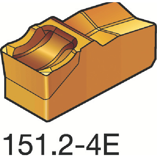 サンドビック T-Max Q-カット 突切り・溝入れチップ 4225 10個 N151.2-250-4E:4225