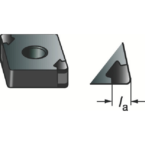 サンドビック T-Max 旋削用CBNチップ 7025 5個 CNGA120408S01030AWG:7025