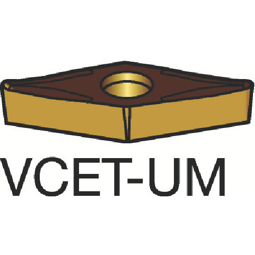 サンドビック コロターン107 旋削用ポジ・チップ 1105 10個 VCET110301-UM:1105