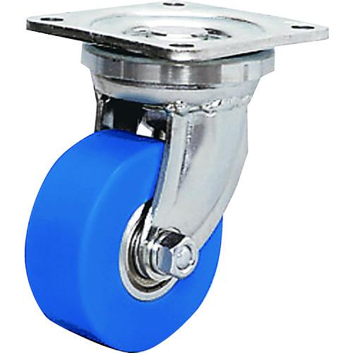 シシク 低床超重荷重用キャスター 100径 ユニクロメッキ MC車輪 DHJ-100U-MC