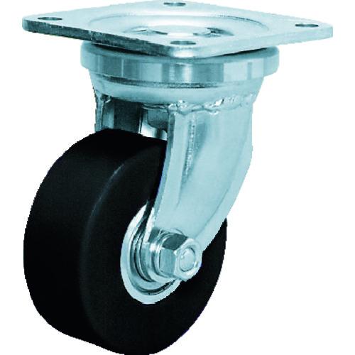シシク 低床超重荷重用キャスター 100径 ユニクロメッキ MCMO車輪 DHJ-100U-MCMO