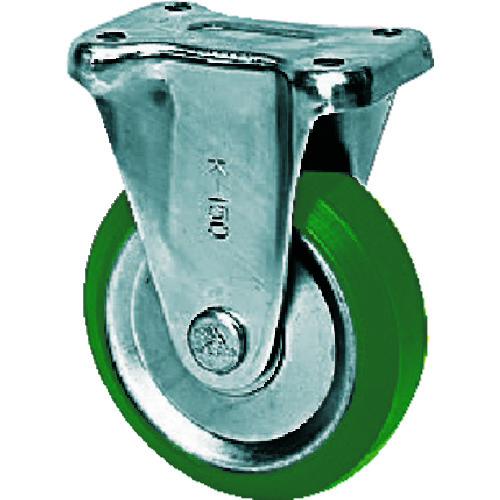シシク スタンダードプレスキャスター ウレタン車輪 固定 300径 UWK-300
