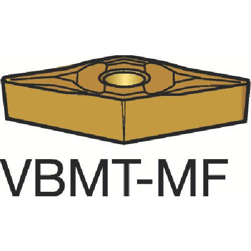 サンドビック コロターン107 旋削用ポジ・チップ 1125 10個 VBMT 16 04 08-MF:1125